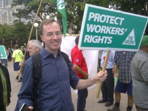 Greens MPs stand up for the right to protest