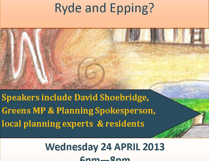 EVENT: Ryde and Epping Urban Activation Precincts – public meeting