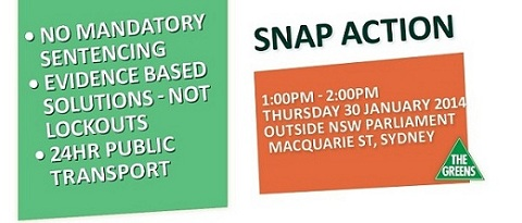 EVENT Protest the O'Farrell Government's ineffective & unfair mandatory sentencing laws & arbitrary lockouts