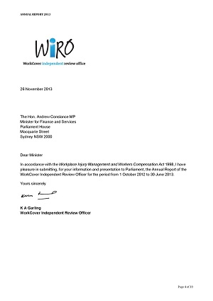 WIRO annual report: damning conclusions about WorkCover