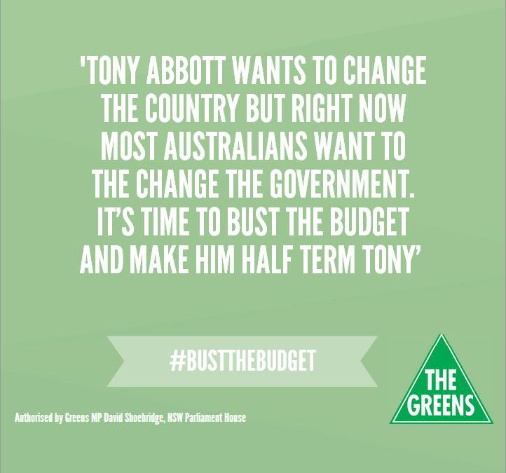 Bust the budget – why we need to do it. [Speech]