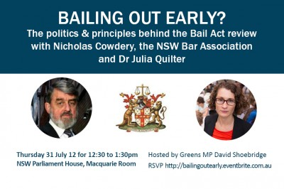 Lunchtime forum: Bailing out early? The politics and principles behind the Bail Act review