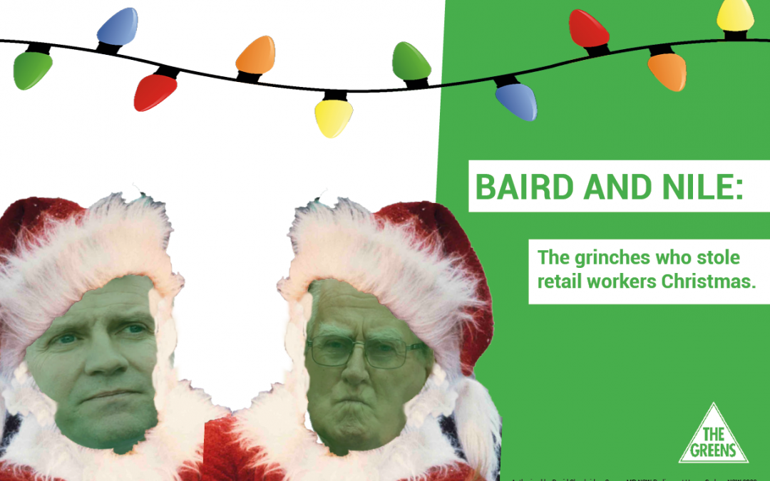 Baird the Grinch who stole retail workers Christmas