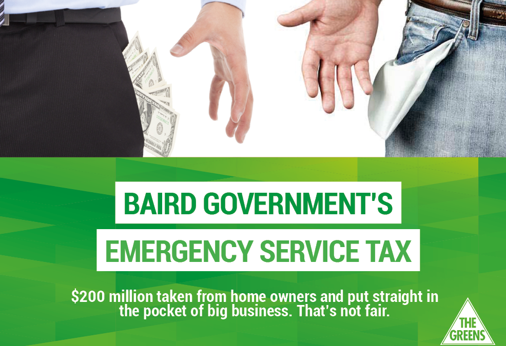A big new unfair tax: Baird's Christmas present for NSW