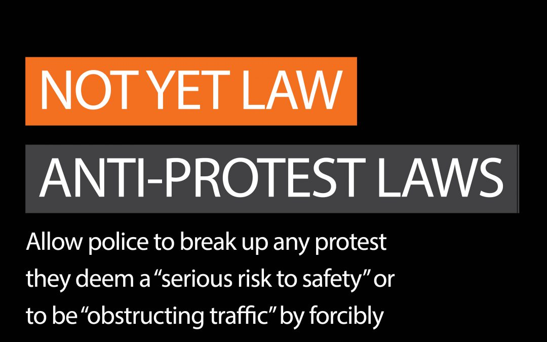 Update on the anti protest laws