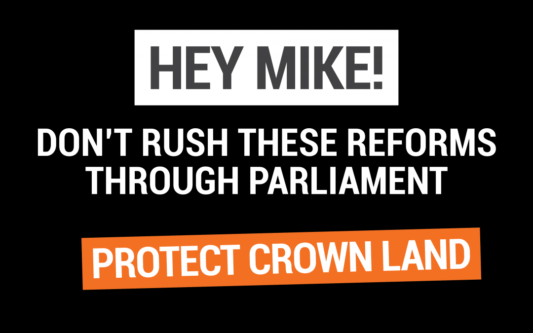 Crown Land reforms coming to Parliament