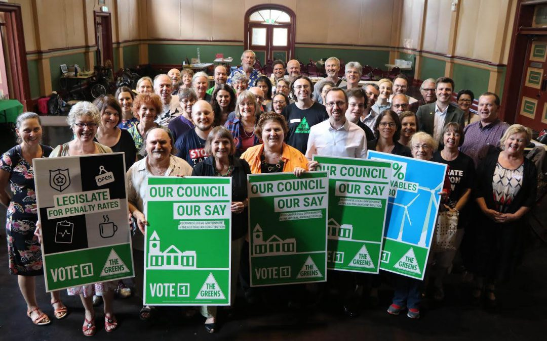 Greens vote grows with successful council elections